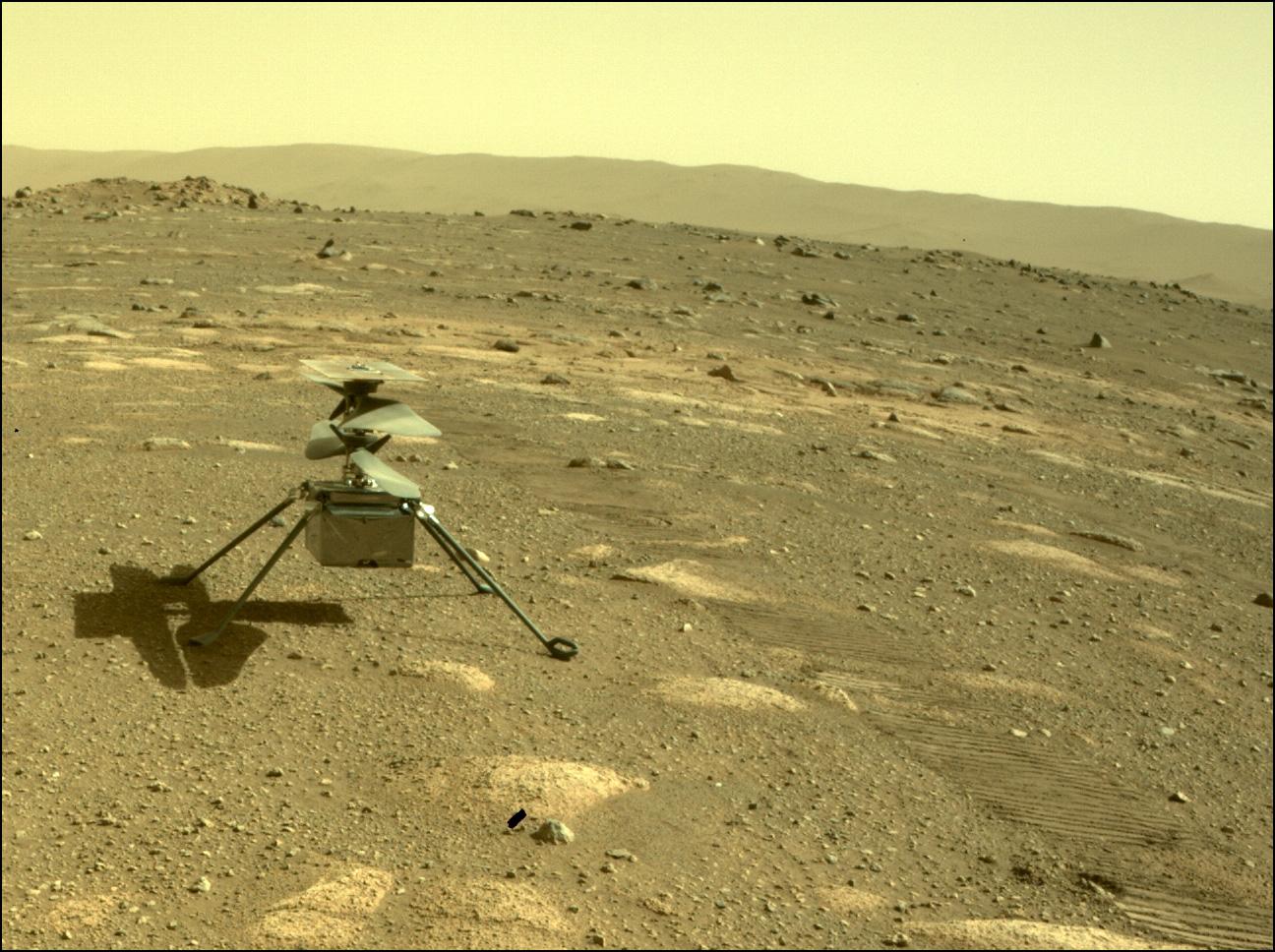 O helicóptero Ingenuity da NASA sobrevive por conta própria à primeira noite fria de Marte